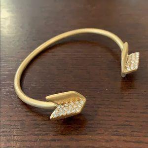 Madewell Pavé Arrowtip Cuff Bracelet
